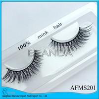 New individual 50 pair handmade natural long mink lashes Strip False Eyelashes super soft nature Eye lashes Mink Fur By UPS
