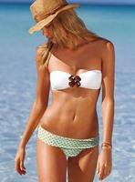 New 2014 Hot Sexy Beach Swimwear Bikini Set Big Buckle Diamond Decoration Swimsuit Bra Bikini 3040 S/M/L