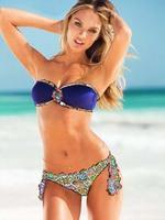 2014 New Sexy Women Victoria Swimsuit Bikini Black Royal Blue Color Female Swimwear Bikini Set 3042 S/M/L