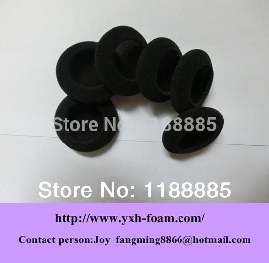 Free shipping 35mm black Earphone Earbud ear Pad foam cushion cover(China (Mainland))