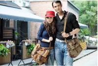 Fashion Men Women Casual Canvas Shoulder Bag Unisex Messenger Bag 3 Sizes