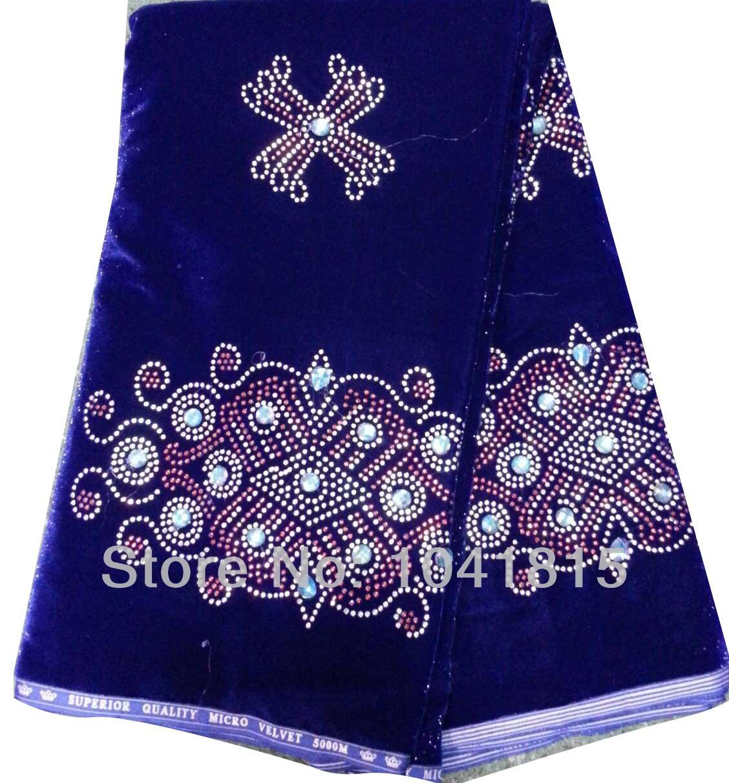 Free shipping by dhl royal blue wedding dress fabric african fashion