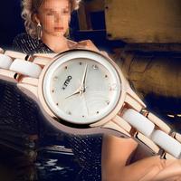 2014 Luxury Brand Kimio Ladies Ceramic Bracelet Watch Casual Women Dress Clock Women Fashion Watches JW6419