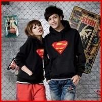 2014 New Diamond Superman Men women Hoodies Cotton Hip Hop Sports Hoodie hooded sweater coat Couple Hoody Jacket Hood By Air
