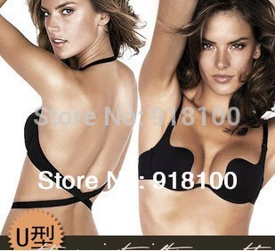 Deep U Low Cut Push Up And Backless Invisible Convertible Bra For Backless Cloth bra(China (Mainland))