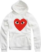 2014 New love PLAYER Rei Kawakubo Men women Hoodies Cotton Hip Hop Sports Hoodie hooded sweater coat Hoody Jacket Hood By Air