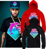 2014 New Brand  pink dolphin dolphin Men women Hoodies Cotton Hip Hop Sports Hoodie hooded sweater coat Hood By Air