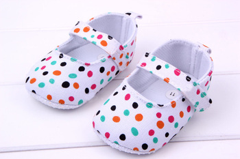 Baby Girls First Walkers Shoes Colorful Polka Dot Toddler Soft Sole Kids Children's ...