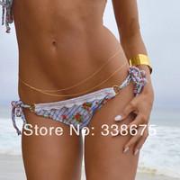 2014 Double Layers Sexy Belly Chain Waist Chain Layering Gold Belly Chain, Bikini Jewelry, Beach Jewelry, Body Chain Jewelry