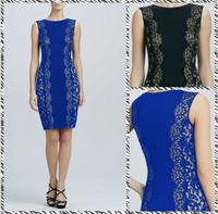 Free shipping 2014 new elegant charm sexy sleeveless round neck Slim waist dress ML005
