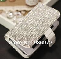 Crocodile rhinestone leather phone case for iphone 5 5s 4c 4 4s Fashion DIY Mobile Phone Housings Free shipping