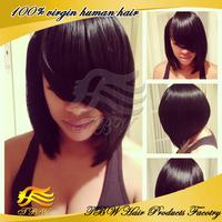 Short bob wigs for sale brazilian virgin human hair Lace front bob wigs/full lace wig with bangs for black women free shipping