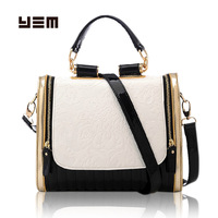 Yem bag black and white bag color block shoulder bag cross-body women's handbag fashion handbag trend women's handbag