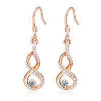 A330   Genuine Austrian crystal earrings rose gold gourd   2020108290   B9