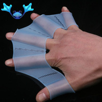 Silicone Hand Swimming Fins Flippers Fast Finger Gloves Top silicone hand Swimming gloves S M L