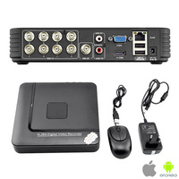Free Shipping ! Latest New 8CH H.264 Video Surveillance Standalone CCTV Network Security DVR System Kit