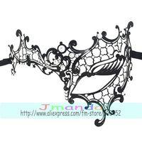 MJP-027B Popular Left Half Face Metal Mask Carnival Halloween Mask Princess Masquerade Charming Crystal Mask ,50pcs/lot,