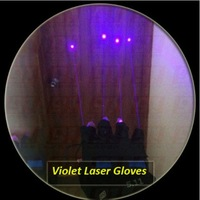 Violet blue laser gloves with 4 powerful laser beams for DJ, PARTY, KTV, BAR ,Stage light, Dance, etc.