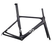 2014 New Road Bike Carbon Frame Fork Seatpost Headset UD Matt BB86  50.5cm Bicycle Frameset