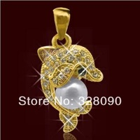 Free shipping 2014 Hot Sale Pearl pendant .Silver/Gold 5.6g Women apply