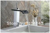 Hot Sale Reasonable Price Good Quality Black Glass Spout Chrome Faucet Bathtub Basin Tap 8219/5