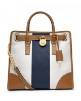 Top Brand With Logo 2014 Bolsa Hamilton North South listrada Travel Satchel Tote Fashion Striped handbag