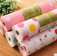 Promotion Waterproof Antibacterial Table Mat Damp Proof Drawer Pad Flower Print Home Decoration LJ09283