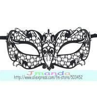 MJP-008B Hollow Out Cute Metal Mask Fashion Carnival Halloween Mask Princess Masquerade  Rhinestone Mask ,50pcs/lot