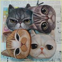wholesale free shipping fashion coin purses cute cat change purse cute coin purse bag women wallets women clutch