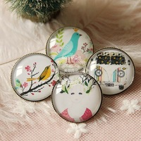 15pcs /lot  2014 new design fashion jewelry for women vintage girl bird retro crystal copper brooch pins for women cheap jewelry