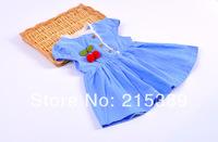 2014 summer children's clothing Korean girls dress in short-sleeved dress free  shipping