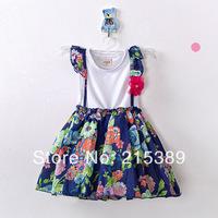 2014 girls summer dress princess dress children free  shipping