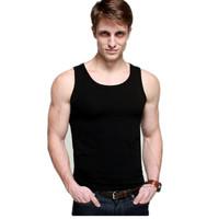 2014 men tank tops cotton basic vest fashionable tight-fitting sports fitness undershirt brand men's tank top hig quality CM0002