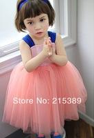 new 2014 Girls sequined bow fantasy princess tutu princess dress veil