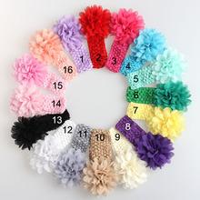 2014 envío gratis nuevo niñas diadema de encaje bebé gasa flor diadema de pelo infantil tejido banda bebé accesorios del pelo bebé regalo(China (Mainland))