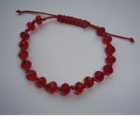 20pcs Fashion Vintage Handmade Shamballa  Knotted, Red Crystal Beads Adjustable Bracelet &Bangles For Women Free Shipping  P1510