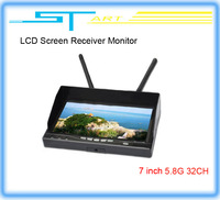 FPV monitor  7 Inch TFT The latest Integrated Dual 5.8G 32 frequency LCD Screen Receiver Monitor Free Shipping