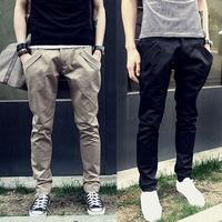 Men Tshirt Men's clothing 2014 spring male trousers slim trousers male fashion casual pants