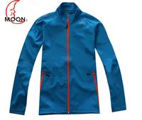 Moon ride outdoor jacket outerwear elastic waterproof clothing soft shell fleece clothing Men