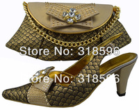 Free Shipping! Wholesale Italian Ladies Fashion Shoes and Matching Bags Set