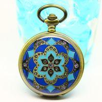 Free shipping wholesale dropship 2013 hot sale flower diamond shinning fashion quartz fob watch Sapphire blue