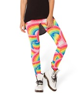 RESUN KNITTED HOT Sexy Fashion 2014 Pirate Leggins Galaxy Pants Digital Printing RAINBOW BRIGHT 2.0 LEGGINGS - LIMITED For Women