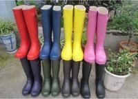 free shipping,2013 fashion rain boots low heels waterproof women wellies boots,women rainboots,woman water shoes,10 color