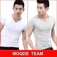 free shipping 2014 New Arrival,Hot Sell men's top t-shirts and men tshirts pure colour cotton tee Cheap Spring Summer Autumn