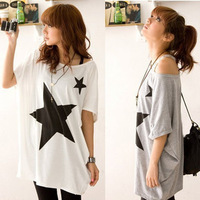 6075 1 spring pattern plus size loose Size 100% cotton short-sleeve T-shirt