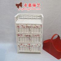 Rattan straw braid storage cabinet storage cabinet finishing bedside cabinet storage box storage box
