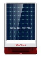 C398 JD-06 Wireless Waterproof Outdoor big strobe Solar powered Siren Alarm with LED flashing 130dB Default 315MHz Free shipping