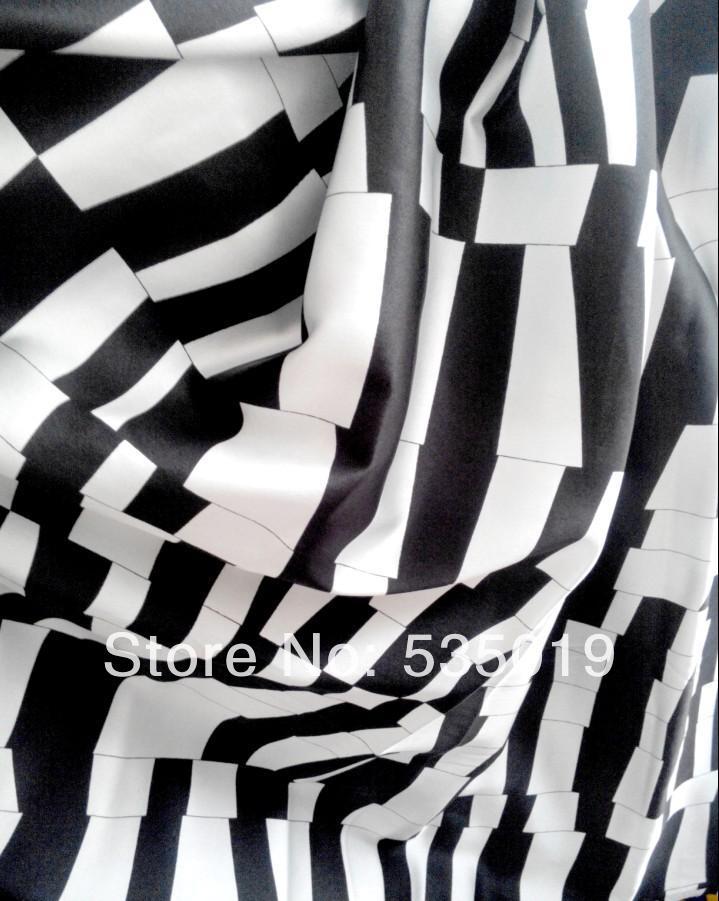 Free Poplin Silk Printed Fabric Set Stripe Printed Felt Retro Fabric 100% Natural Silk Fabric 3 Color Dress Colth Material(China (Mainland))