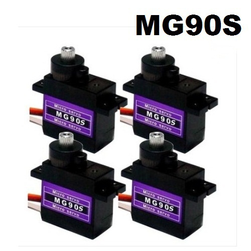 Free Shipping Wholesale 4pcs/Lot MG90S 9g Metal Gear Digital Micro Servos 9g for 450 RC helicopter Plane Boat Car(China (Mainland))