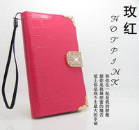 Corner drill bling Diamonds Flip pu leather case cover with card holder FOR nokia lumia 1020 1320 1520 505 520 720 820 920 925